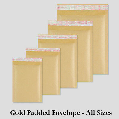 £15.99 • Buy Genuine Golden Padded Bubbled Envelopes Bags All Sizes Postage-Solutions Cheap