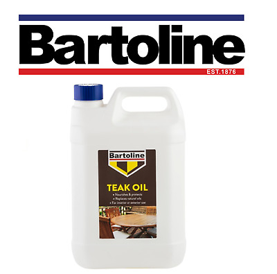 £21.99 • Buy Bartoline Teak Oil 5 Litre Protects Wood Gives A Beautiful Natural Sheen Finish
