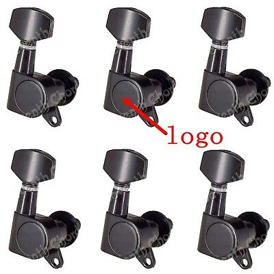 $ CDN12.62 • Buy 1 Set 6R Black Guitar Tuning Pegs Keys Tuners Machine Heads For Electric Guitar