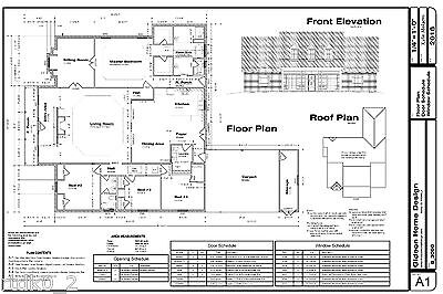 CAD DWG, And PDF Files For Custom Home House Plan 3,090 SF Blueprint Plans • 32.19£
