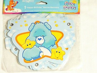 New Care Bears  Boy- 1- Happy Birthday Banner  5 Ft. Long  -  Party Supplies • 2.99£