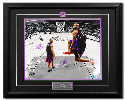 View Details Vince Carter & Tracy McGrady Toronto Raptors Dual Signed Slam Dunk 25x31 Frame • 599.99$ CDN