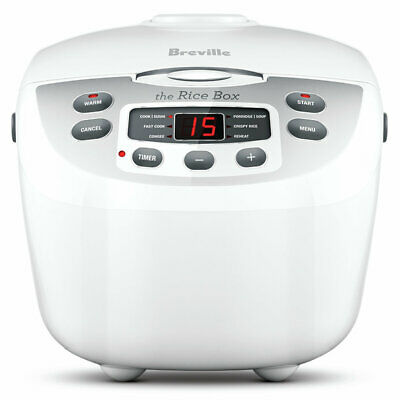 AU98 • Buy NEW Breville BRC460WHT The Rice Box Rice Cooker