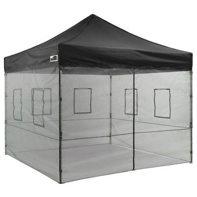 $298.88 • Buy 10x10 EZ POP UP Canopy Food Service Commercial Vendor Mosquito Netting Tent