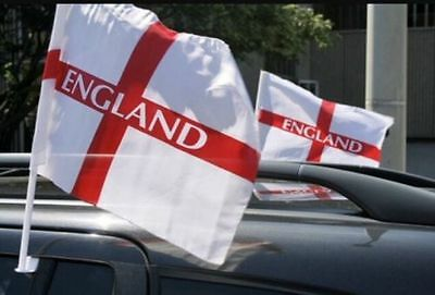 £2.85 • Buy 2 Pack England Football Car Flags Euros 21 World Cup St George Cross Sport Event