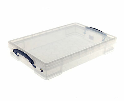 Really Useful Plastic Clear Box A3 Paper Storage Drip Cakes Tray 10 Litre • 10.49£