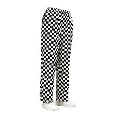 £15.99 • Buy New Chef Elasticated Trousers In Black,Royal,Green And Red Check Colours
