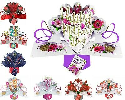 Keepsake All Occasions Pop Up Cards Birthday Anniversary Wedding Day 3D • 5.49£