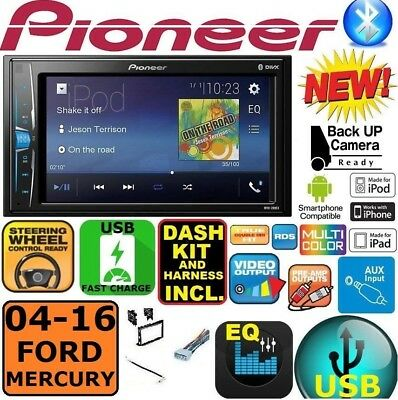 $269.99 • Buy 04-16 FORD MERCURY TOUCHSCREEN PIONEER Double Din Bluetooth USB Car Radio Stereo