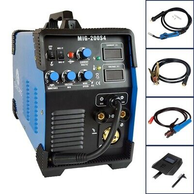 Mig 200a Igbt Inverter Dc Welder 3-in-1 Mma Tig Gas Gasless Arc Welding Machine • 249.99£