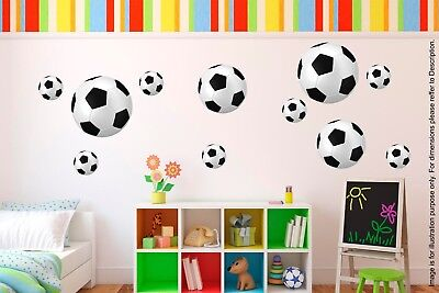 20 Football Sport Balls Stickers Children Decals For Wall Child Room Decoration • 2.99£