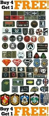 PVC Rubber Airsoft Paintball Military Tactical Patch Patches Badges Cosplay UK! • 3.99£