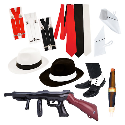 £4.98 • Buy Gangster Costume Accessories: 1920s Spats Hat Al Capone Men Women Gatsby Party