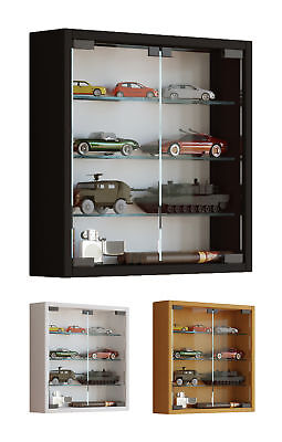 Glass Display Cabinet Wall Mounted Small Toys Vapes Various Colours • 1,234£