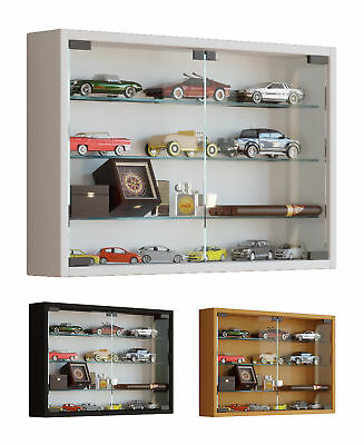Glass Display Cabinet Wall Mounted Wide Medium Toys Vapes Various Colours • 1,234£