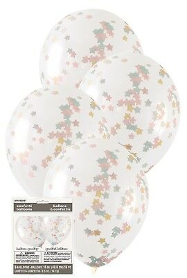 AU5.99 • Buy 5 X Twinkle Little Stars Confetti Balloons 1st Birthday Party Decoration Helium