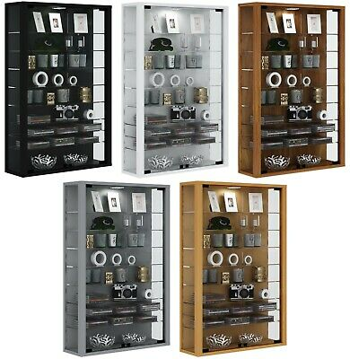 Large Glass Display Cabinet Wall Mounted Tall Toys Vapes Various Colours • 1,234£