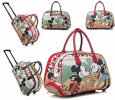 £22.99 • Buy Mickey Mouse Trolley Holdall Bag Girls Minnie Mouse Hand Luggage Travel Handbag