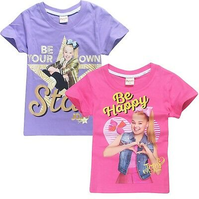 AU15.95 • Buy JOJO SIWA Girls Summer T-shirt Shirts Tee Top Size 3-12 Au Stock Xmas