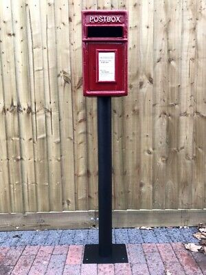 $236.36 • Buy Postbox Letter Post Box And Stand - Cast Iron Post Office Red - Medium