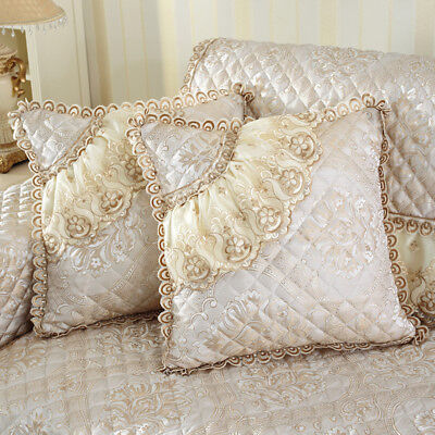 Lace Cushion Covers Dentelle Throw Pillow Cases Zip Up Vintage Royal Home Decor • 10.24£