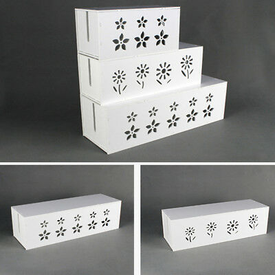 Cable Storage Box Wire Management Socket Case Organizer Safety Tidy White • 13.49£