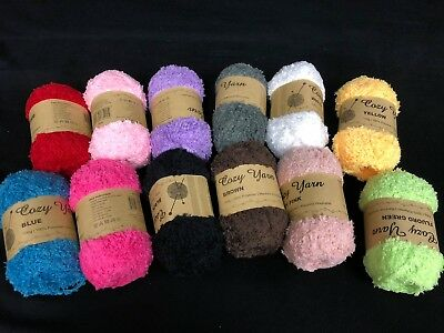 AU19.39 • Buy 4 X COZY Polyester Knitting Yarn Plain Colors 100g / Roll  New