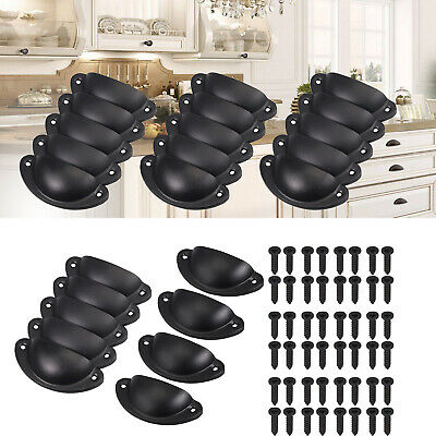 AU22.85 • Buy 24X Cupboard Door Cabinet Cup Drawer Kitchen Furniture Antique Pull Shell Handle