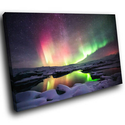 SC550 Northern Lights Colourful Cool Nature Canvas Wall Art Large Picture Prints • 19.99£