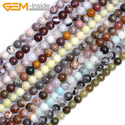 £2.60 • Buy Wholesale Natural Gemstones 6mm Round Spacer Beads For Jewellery Making 15  UK