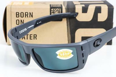 27258cefcc NEW COSTA DEL MAR RAFAEL SUNGLASSES Matte Gray Frame   Gray Lens 580P  Polarized • 114.95