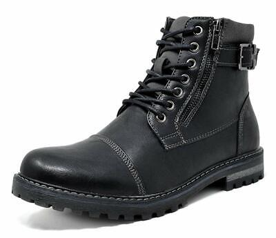 $32.39 • Buy Bruno Marc Mens Winter Motorcycle Combat Faux Fur Military Leather Ankle Boots