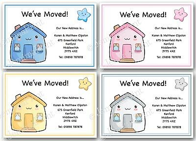 Personalised Change Of Address Cards Moving House New Home X10 We've Moved • 3.75£