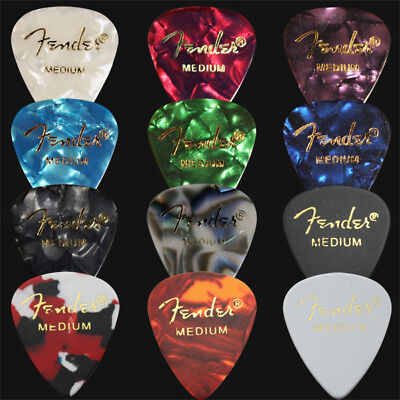$ CDN7.41 • Buy 12 X Medium Fender Celluloid Guitar Picks / Plectrums - 1 Of Each Colour