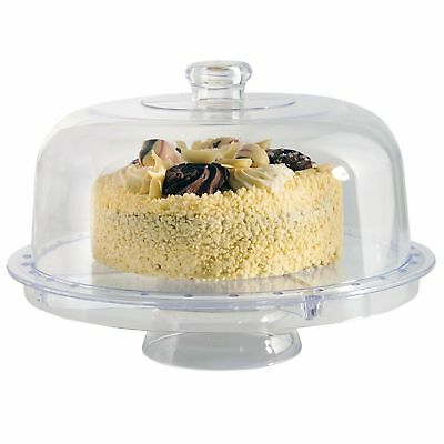 £13.99 • Buy Modern Design 5 IN 1 Multi Functional Cake Stand & Dome Plastic Cover Salad Bowl