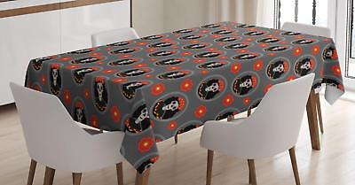 $27.99 • Buy Mexican Sugar Skull Tablecloth Ambesonne 3 Sizes Rectangular Table Cover Decor