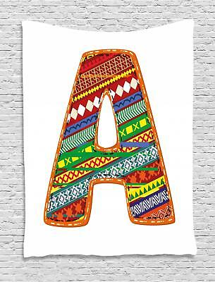 Colorful Letters Tapestry Wall Hanging Form Decoration For Room 2 Sizes • 24.29£