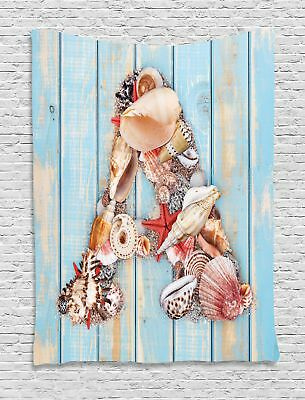 Seashell Letters Tapestry Wall Hanging Form Decoration For Room 2 Sizes • 24.29£