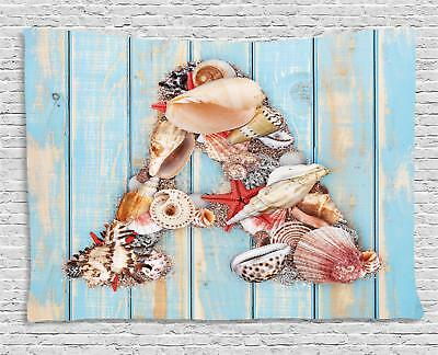 Seashell Letters Tapestry Wall Hanging Form Bedroom Dorm Room Decor 2 Sizes • 22.08£