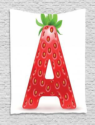 Strawberry Letters Tapestry Wall Hanging Form Decoration For Room 2 Sizes • 24.29£