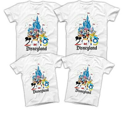$19.60 • Buy Disneyland 2019 T-shirt Mickey Matching Disney Family Vacation Shirts All Sizes
