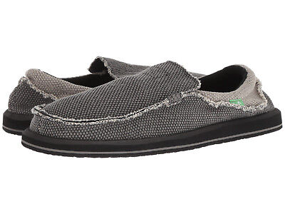 Man Sanuk Chiba Sidewalk Surfer Slip On SMF1047 Black-Charcoal 100% Original New • 42.91£