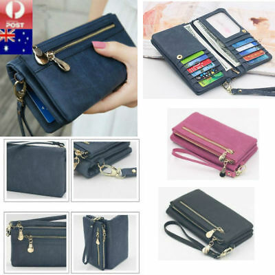 AU18.25 • Buy Long Travel Women Lady Purse Wallet Zip Card Phone Holders Double Handbag Case