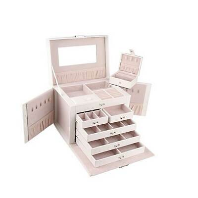 AU76.49 • Buy Extra Large Jewellery Box Gifts Necklace Ring Storage Lock Case Mirror Organizer