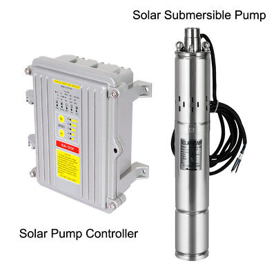"""3"""" Deep Well DC Solar Water Pump Submersible140W/400W Bore Hole MPPT Controller • 231.62£"""