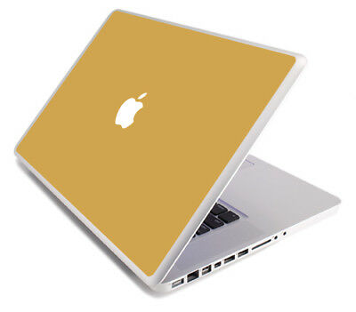 $8.99 • Buy GOLD Vinyl Lid Skin Cover Decal Fits Apple MacBook Pro 17 A1297 Laptop