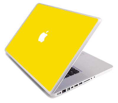 $8.99 • Buy YELLOW Vinyl Lid Skin Cover Decal Fits Apple MacBook Pro 17 A1297 Laptop