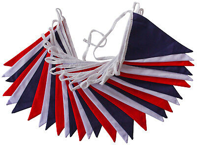 £10.50 • Buy Double Sided Fabric Bunting Weddings Fetes Christenings