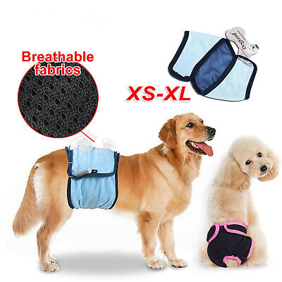 Female / Male Dog Puppy Nappy Diapers Belly Wrap Band Sanitary Pants Underpants • 4.99£
