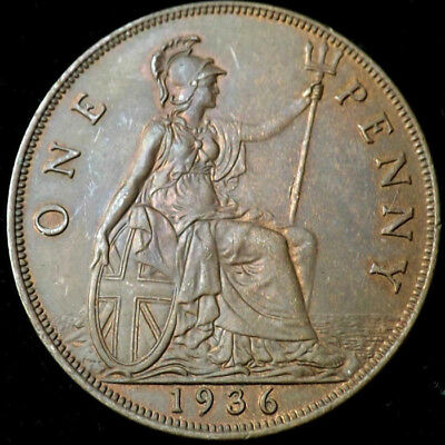 £1.99 • Buy 1936 KING GEORGE V ONE PENNY 1d - COIN !